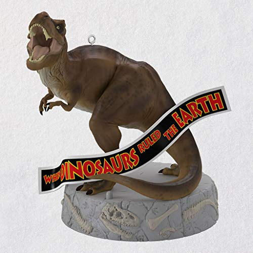Hallmark When Dinosaurs Ruled The Earth -Jurassic Park Christmas Ornaments