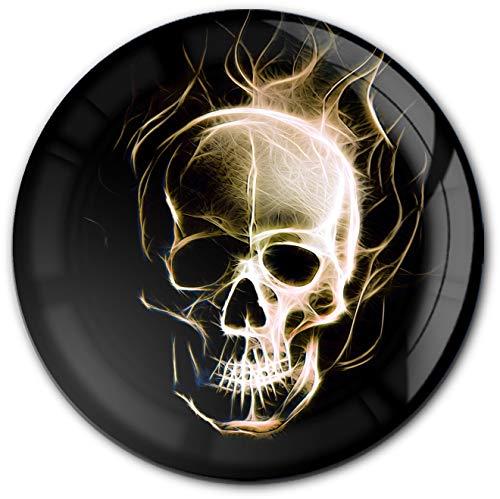 metALUm runder Acrylmagnet mit starkem Neodym - Magnet Totenkopf #1301190