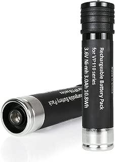 2Pack 3.6V 3000mA Battery for Black and Decker Ni-MH Replacement Versapak Gold VP100 VP100C VP105 VP105C VP110 VP110C VP130 VP142 VP143
