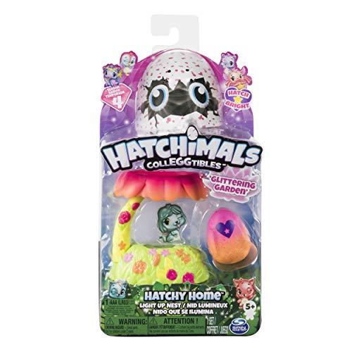 Hatchimals Colleggtibles — Glittering Jardin Hatchy Maison Nest Lumineuse avec Exclusive Season 4 Colleggtibles, pour 5Ans et Plus