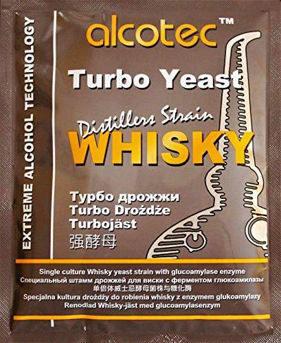 AlcoTec HUGBERT Turbohefe Whisky + GA Enzym Alkohol Gärhefe Hefe Brennhefe, 5 Stück