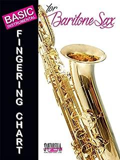 baritone saxophone fingering chart