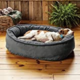 Orvis ComfortFill-Eco Wraparound Dog Bed with Fleece
