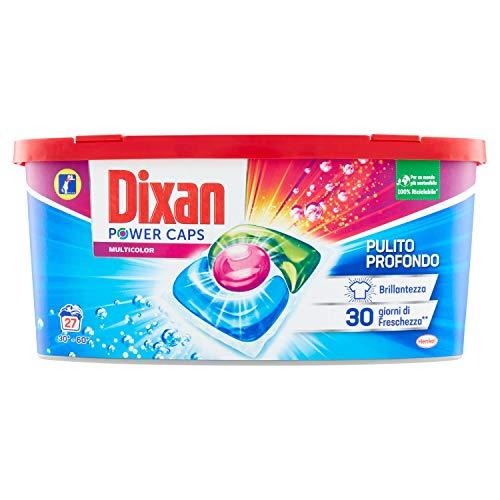 Dixan PowerCaps Multicolor, Detersivo Lavatrice Capsule, Ideale per capi colorati, 27 lavaggi - 1 X 400 g
