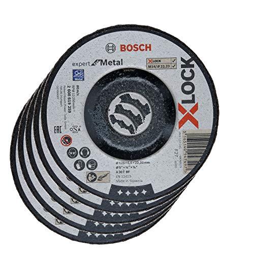5x Bosch Schruppscheibe X-LOCK gekröpft Expert for Metal A 30 T BF 125x22,23x6mm