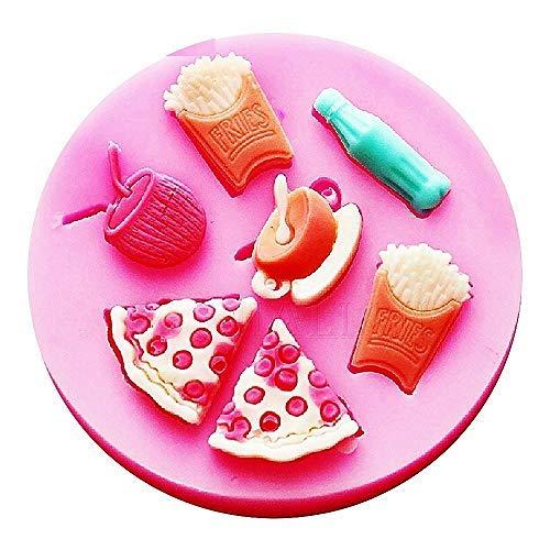 Molde de silicona para uso alimentario de snacks y bebidas - Pasta...