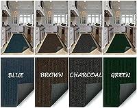 Koeckritz ノンスリップスタンディングマット キッチンラグ 疲労軽減 快適フローリング 商用グレードパッド 人間工学に基づくフロアパッド 5' x 9' ブラウン