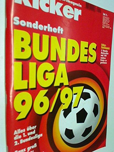 KICKER SONDERHEFT Bundesliga 1996/97 mit Stecktabelle, sportmagazin, Deutschlands grösste Sportzeitung