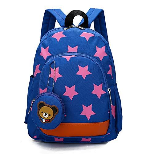 Mochila para Niños Infantil Guarderia Mochila Escolar, Star Bolsas Escolares de Niños Niñas Mochila para 2-7 Años