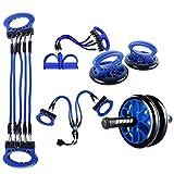 [Mejorado] Kit de rueda de rodillo abdominal, 5 en 1 Incluye rueda abdominal,...