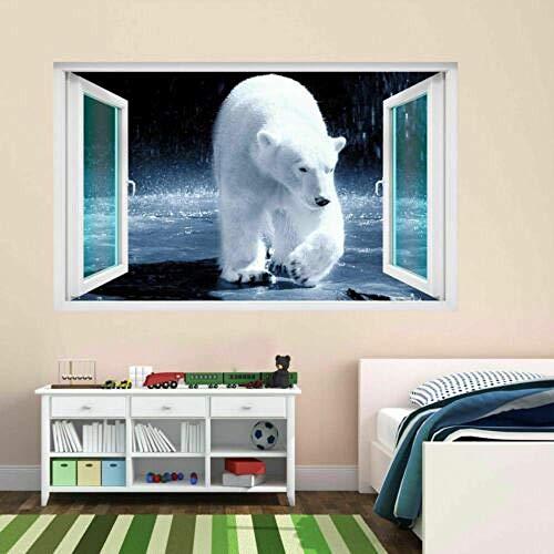 Wandtattoo Poster Tapeten Polar Bear Sea Ice Animal 3D Wall Sticker Mural Decal Kids Room Home Decor CT36-50x70cm