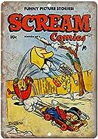 Scream Comic ティンサイン ポスター ン サイン プレート ブリキ看板 ホーム バーために