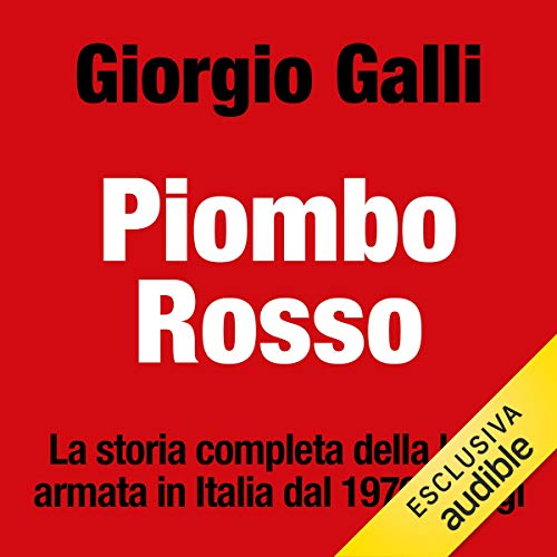 Piombo rosso audiobook cover art