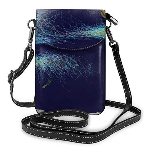 Global Tropical Cyclone Tracks Mode Kleine Handy-Geldbörse Mehrzweck-Umhängetasche Brieftasche Leichte, geräumige Taschen Smartphone-Tasche für Frauen, Mädchen, Teenager