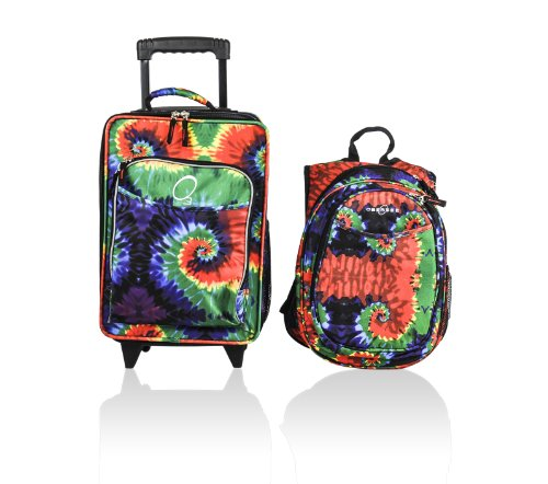 commercial Obersee children's suitcases and backpacks with integrated cooler and tie-dye obersee preschool backpack