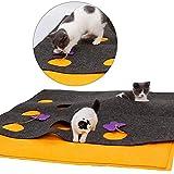 Haustier Matte Katze Aktivität Spielmatte Versteckspiel Decke zusammenklappbar Hundetraining Kratzbett Matte multifunktionale DIY Form Puzzle Tunnel interaktives Spielzeug for Katze Indoor Outdoor-Ein