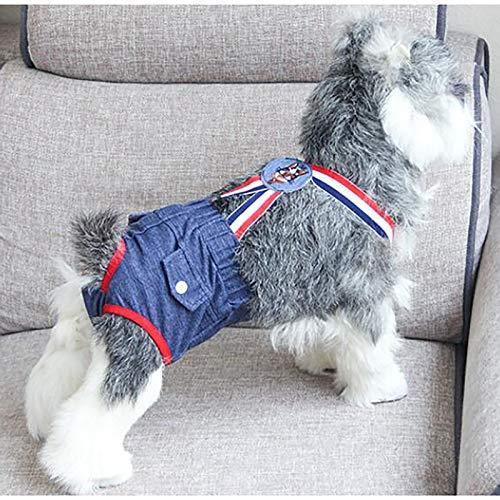 Pañales fisiológicos para Perros, Pantalones Sanitarios, algodón, cómodos y Transpirables, Reutilizables, pequeños pañales a Prueba de Fugas para Perros (Size : X-Small)
