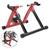 Hammer Moto Trainer soporte, cubierta de fluidos de bicicletas de ejercicio Trainer w Real Quiet sensación del camino del volante, compatible con el soporte de ciclo portátil, el peso máximo de la cap