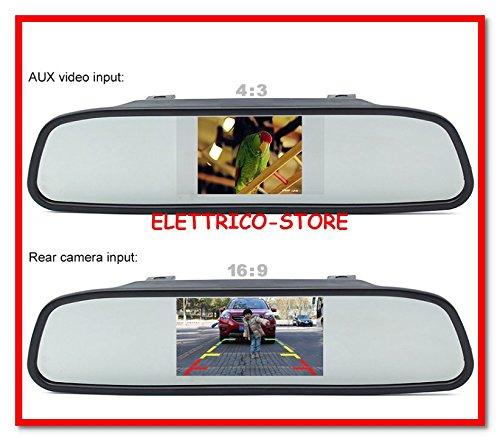 Rétroviseur TFT LCD pour caméra de recul de voiture, camionnette, camping-car.