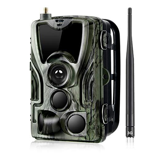 Cámara de rastreo, visión nocturna impermeable 16MP 1080P Cámara de exploración de caza para monitoreo de vida silvestre, rango de detección de 120 ° activado por movimiento, LCD TFT de 2.4 pulgadas