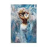VCFHU Dancing Canvas Pintura Pinturas de Artistas Famosos Personajes Abstractos Arte de la Pared Cuadros Abstractos Salon de Estar Moderna Decoracion de la Pared Interior 60x80cm Sin Marco