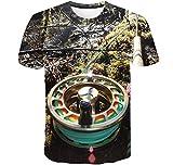 Herramientas De Pesca 3D Impreso Tops Cuello Redondo Casual Manga Corta para Hombres Mujeres Verano Camisetas Personalizadas,4XL
