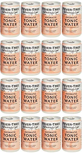 Fever-Tree Refreshingly Light Aromatic Tonic Water 16 x 150 ml (Pack of 2 Total 16 Cans)
