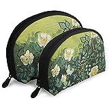 Wild Rose Art Style Bolsas portátiles Bolsa de Maquillaje Bolsa de Aseo, Bolsas de Viaje portátiles multifunción Pequeña Bolsa de Embrague de Maquillaje con Cremallera