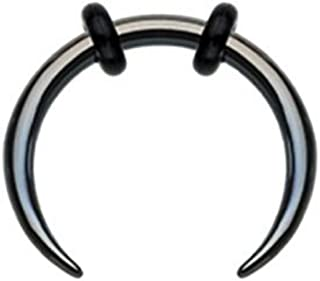 Black Basic Steel Pincher Septum Clicker
