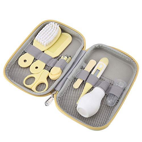 SH-RuiDu 8pcs conveniente diario bebé cortaúñas tijeras cepillo de pelo peine manicura cuidado kit