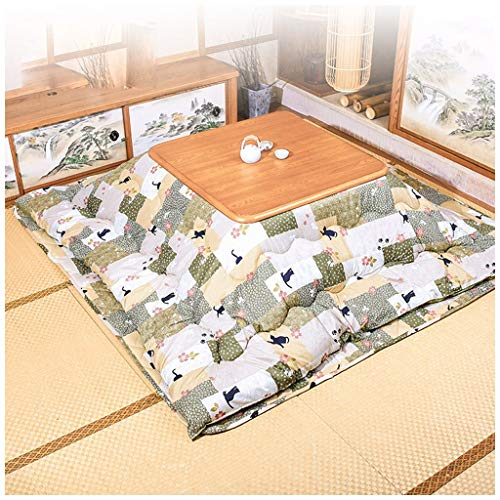 Affordable Japanese Kotatsu Table with Heater and Blanket, Comforter, Tatami Futon Coffee Tea Table ...