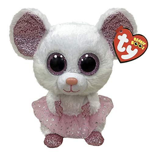 TY UK Ltd 36365 Beanie Nina Mouse con Tutu-Boo-Reg, Multicolor