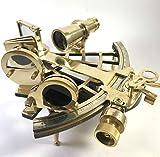 Peerless Instrumento Sextante| Sextante real | Sextante original | Navegación sextante | Sextante funcional | Trabajo sextante | Latón antiguo náutico decoración de metal astra antik