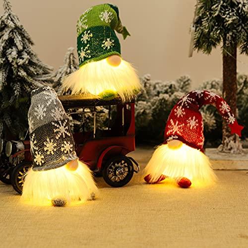 Gnomos Navidad, Elfo Navidad Muñeco Luces, Navidad Decoración Casa Interior, Gnomos...