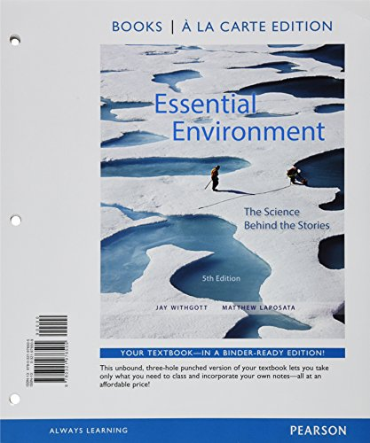 Essential Environment: The Science behind the Stories, Books a la Carte Plus Mastering Environmental Science with eText