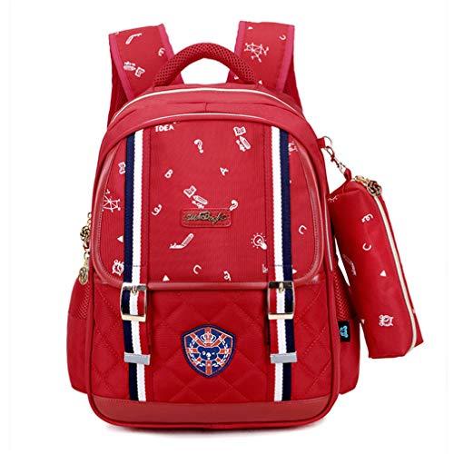 Bolsa Escolar ortopédica Impermeable para niños, Red (Rojo) - TJ4569875