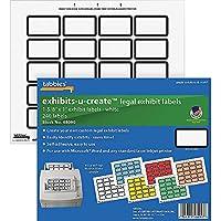"Tabbies Legal Exhibits-U-Create 幅1-5/8インチ x 高さ1インチのラベル 幅8-1/2インチ x 高さ7インチのシート 240ラベル/パック (48090) 1-5/8""W x 1""H Labels, 8-1/2""W x 7""H Sheet"