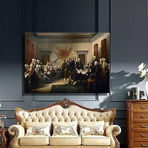 Posters en prints muur kunst canvas schilderij John's Verklaring van Onafhankelijkheid woonkamer wanddecoratie schilderij frameless