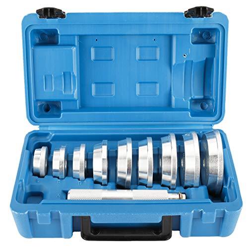 FreeTec 10tlg Lager Buchsen Druckstücksatz Simmerring Austreiber Eintreiber Treibsatz Werkzeug