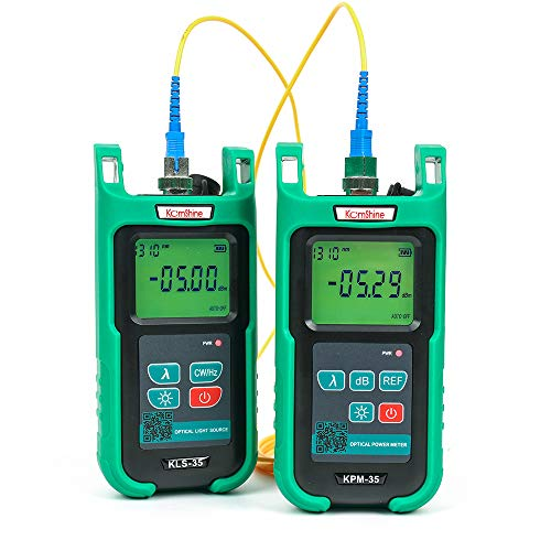Optic Fiber Power Meter KomShine KPM-35 Fiber Optic FTTH Maintenance + Optical Fiber Singlemode Light Source KLS-35-S