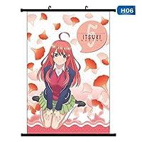 五等分の花嫁アニメの家の装飾壁アート布スクロールポスター漫画ぶら下げ画像16x24inch / 40x60cm