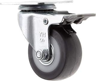TOOLCRAFT TO-5137869 Zwenkwiel TPR met rem 50 mm met schroefplaat