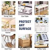 OstepDecor Glasklar Folie geruchlos Tischfolie Tischdecke transparente durchsichtig PVC Schutzfolie Tischschutz, 2mm dick wasserdicht Lebensmittelgeeignet,Größer anpassbar, 90x160cm - 5