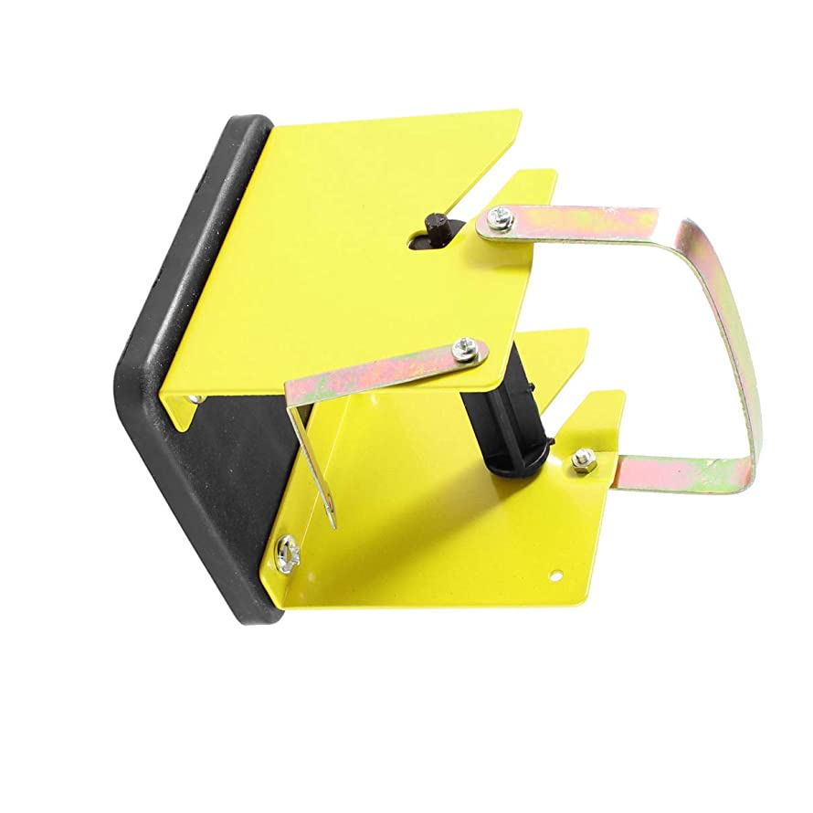 Aexit Metal Yellow Soldering Guns & Irons Solder Wire Stand Holder w Plastic Black Irons Reel Spindle