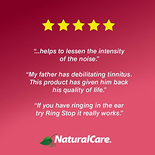 NaturalCare RingStop   Ringing in the Ear Aid   Homeopathic Support For Tinnitus Relief, Ear Noise & Sensitivity to Sound   0.5 oz