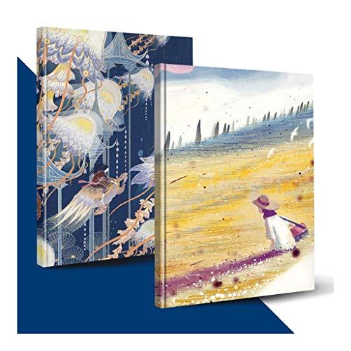 ZANZAN Cuadernos de Notas Clásico Cuaderno en Blanco, Cuaderno de Hojas Sueltas Cuaderno Borrador de bocetos de Dibujo Pintura, Ideal for los niños, Adolescentes y AdultsProfessional blocs de Notas
