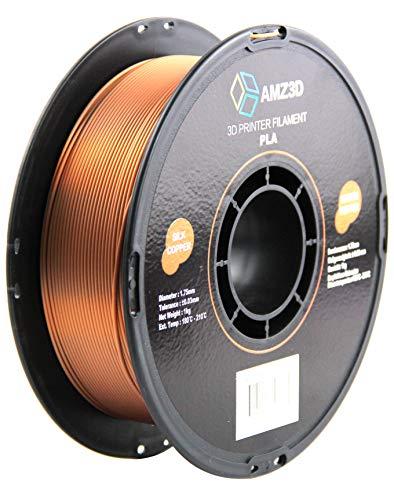 Filamento para Impresora 3D PLA de Cobre de Seda de 1,75 mm, Carrete de 1 kg (2.2 Libras)