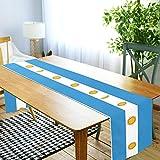 LORDWEY Tischläufer mit Argentinien-Flagge, rutschfest, hitzewiderstandsfähig, Tischdecke für Esstisch, Party, 45,7 x 182,9 cm