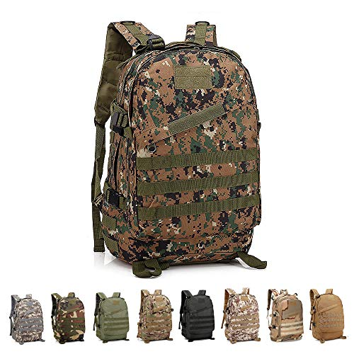 Risefit Military Tactical Backpack Army Style Rucksack, 40L Fishing Rucksacks for Camping, Hiking, Trekking, Carp Fishing and Hunting Tactical Backpack