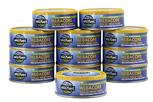 Wild Planet Albacore Wild Tuna in Extra Virgin Olive Oil (12 pack)